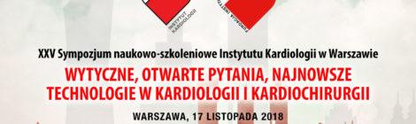 XXV Sympozjum naukowo-szkoleniowe Instytutu Kardiologii